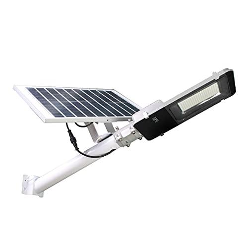 JANDEI - Farolas Solares para Exterior, 2500 Lúmenes, Impermeable IP65, Panel Solar Orientable y Mando a distancia, 200 LEDs, 6000K Blanca Fría, Luces solares para Jardín, Patio, Camino, Muro, Jardín.