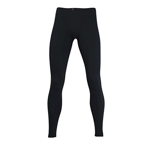 Götzburg Herren Lange Unterhose, Baumwolle, Single Jersey, schwarz, Uni 8