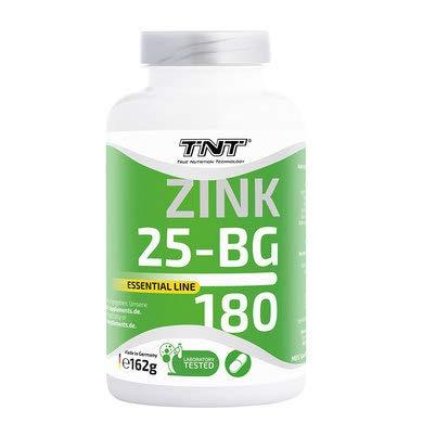 TNT – 180 Premium Zink Tabletten – Hochdosiertes, Laborgeprüftest & Natürliches Zinc – 25 mg pro Tagesportion