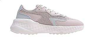 Anta Mesh Pull-Tab Back-Logo Low-Top Lace-Up Sneakers For Women - Rose, 38.5 EU