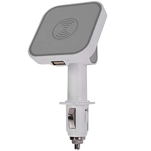 HYCy Cargador Qi magnético para automóvil Soporte para Cargador de teléfono para automóvil para Carga de Encendedor de Cigarrillos (Blanco)