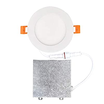 OSTWIN 4 inch LED Recessed PROFILE SLIM ROUND PANEL Light with Junction Box