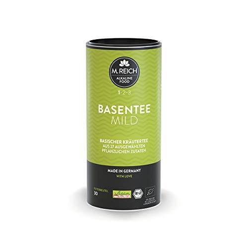 M. Reich BasenTee, mild - 30 Beutel - Basischer Bio-Kräutertee mit 27 Zutaten - ideal für basische Ernährung oder als Begleiter bei Fastenkuren