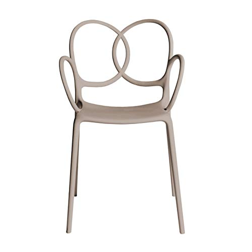 Driade Sissi - Silla con reposabrazos Beige/Mate/An. x Al. x P 53x83x57cm/in and Outdoor Use