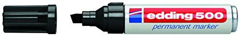 Edding 500 Permanent Marker Black (10) - Marcador permanente