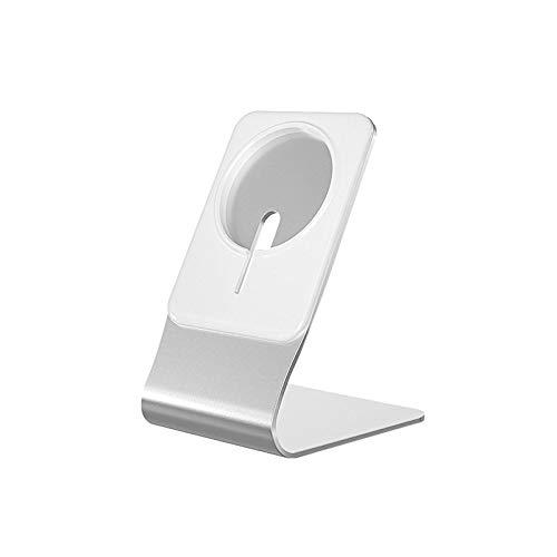 Soporte de cargador magnético, base de teléfono móvil, adecuado base de cargador para MagSafe, adecuado para soporte de teléfono móvil de escritorio de aluminio para Apple iPhone 12 ProMax/mini