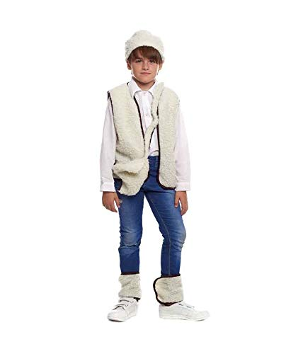 H HANSEL HOME Disfraz Pastor Infantil - Nio Vestido para Cosplay/Navidad Size 1-2 aos