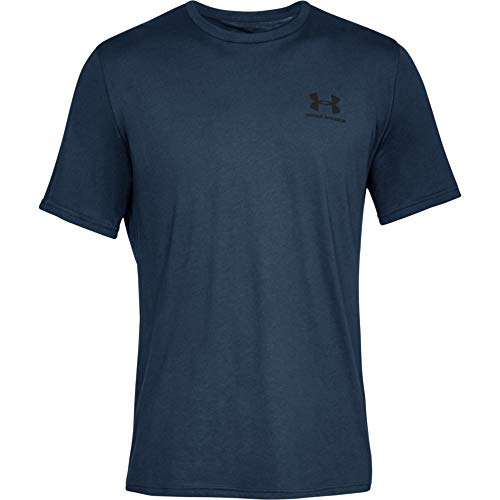 Under Armour Sportstyle Left Chest, T-Shirt Homme, Academy / Black , L