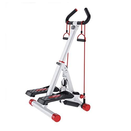 Wenhui Plegable Aptitud Escalera Paso a Paso, Ejercicio Cardio Trainer Escalada máquina Altura Ajustable Máquina Steppertwisting for el Ejercicio en la Oficina y en el hogar