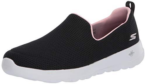 Skechers Mädchen Go Walk Joy Sneaker, Schwarz (Black Textile/Pink Trim Bkpk), 36 EU