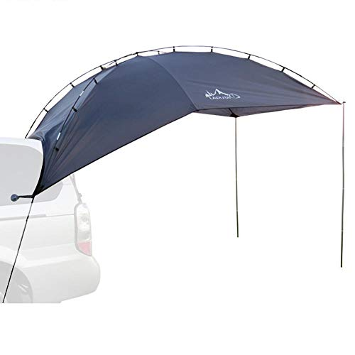 Car awning sun protection, camping family car rear account car side account tents tailgate canopy, summer camping tent for outdoor SUV, MPV, hatchback, 350 x 240 x 105 cm
