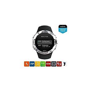 Suunto 5 Reloj Deportivo GPS Ligero y Compacto, Seguimiento 24/7 de Actividad física, Medición del Ritmo cardiaco en la muñeca, Unisex-Adulto, Negro/Acero, Talla Única