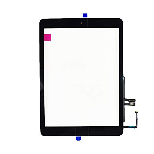 Aiiworld Touch Screen Digitizer Replacement with Home Button Adhesive for iPad 9.7 2018 iPad 6 6th A1893 A1954 (Black)