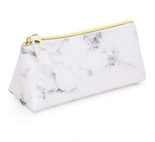 Estuche de maquillaje – Estuche compacto con patrón de mármol para cosméticos bolsa de viaje accesorios organizador: Amazon.es: Hogar