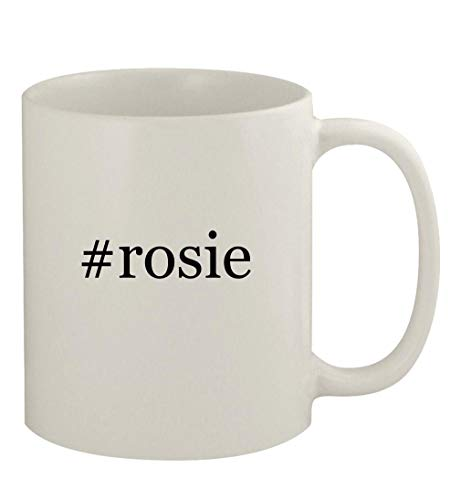#rosie - 11oz Ceramic White Coffee Mug, White