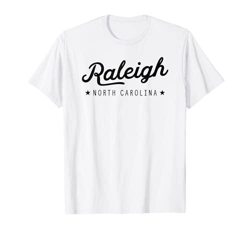 Classic Retro Vintage Raleigh North Carolina USA Maglietta