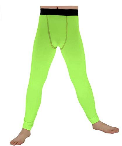 Lanbaosi Boys & Girls Sports Thermal Compression Base Layer Legging/Tights (10, Green)