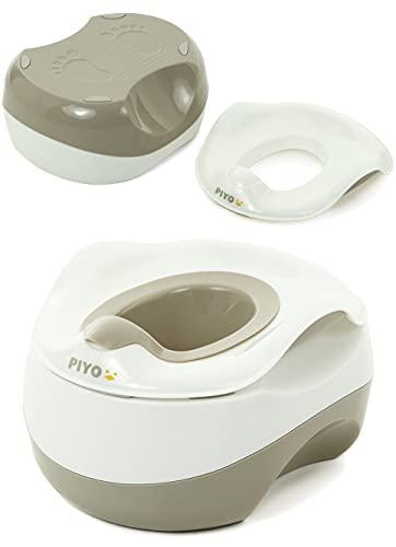 ピヨ(PIYO) おまる 3way 補助便座 踏み台 子供 子ども ステップ台 幼児 こども トイレ おしゃれ (ウォーム・グレー)
