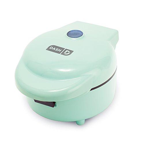 Dash DWBM100GBAQ02 Maker Machine for Individual Belgian Waffles, Taco Bowls, Chicken & Waffles & Other Sweet or Savory Treats, 750W, Aqua