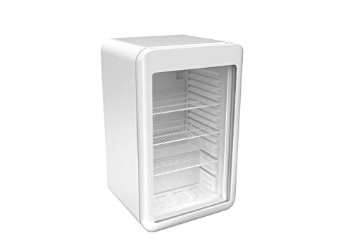 Minibarkühlschrank - 113 Liter - mit 1 Glastür - Weiß