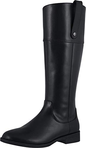 Vionic Women's Knee High Boots - Ladies Tall Equestrian Riding Style Boot with Concealed Orthotic Arch Support Black 7 M US