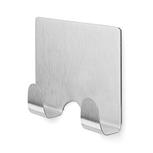 Compactor Magnetico Doppio Gancio per frigoriferi e superfici Metalliche, in Acciaio Inox, Argento, 6.7x 2.8x 6.4cm