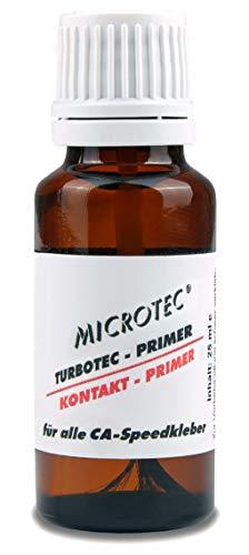 Microtec® Primer CA | zuverlässiger Haftvermittler für CA-Kleber | 25ml | zur Vorbehandlung von schwer zu verklebenden Flächen | extra starke Wirkung | für Polypropylen, Polyethylen, Teflon, Silikon