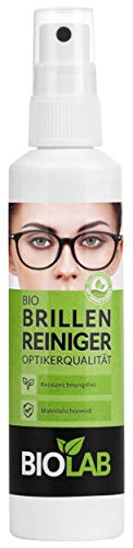 BIOLAB Spay - Limpiador de gafas (100 ml, spray limpiador de gafas, sin alcohol)