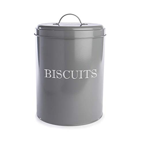 Vintage Biscuit Tin | Cookie Barrel Jar | Kitchen Storage Containers | Airtight Canister | Retro...