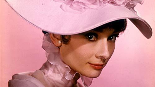 HQHff Audrey Hepburn In rosa Kleid und Hut,Holzpuzzle Erwachsene Kinder Spiele pädagogisches Spielzeug DIY Wohnkultu-1000 Pieces;75x50cm