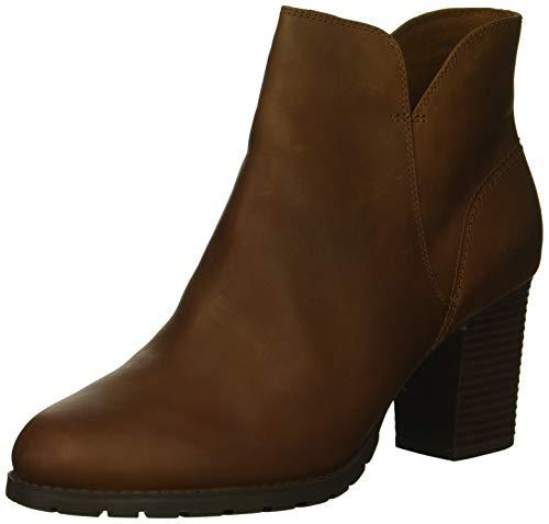 Clarks womens Verona Trish Fashion Boot, Dark Tan Leather, 8 US