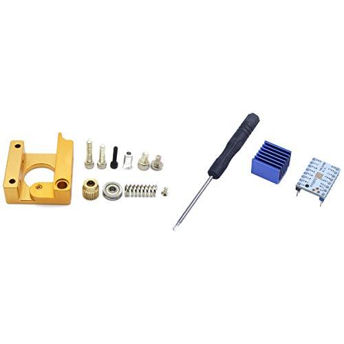 Xigeapg 1 Set 3D Printer MK8 1.75Mm Remote Extruder Kit Frame & 1 Set Stepper Motor Mute Driver Silent Excellent Stability