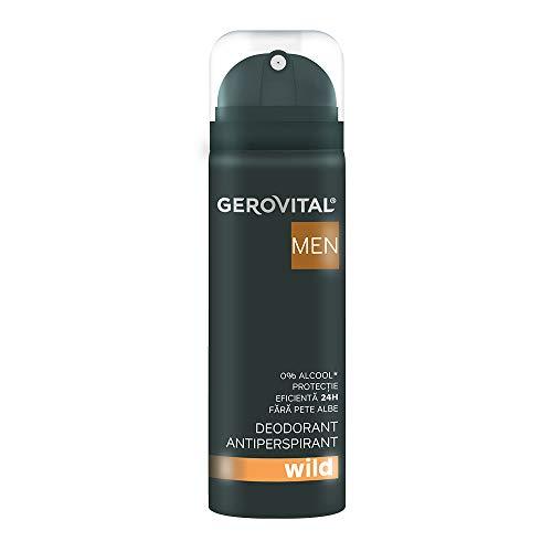 Gerovital Men, Desodorante - Antitranspirante Wild , Cuidado corporal Antitranspirante, 150 ml