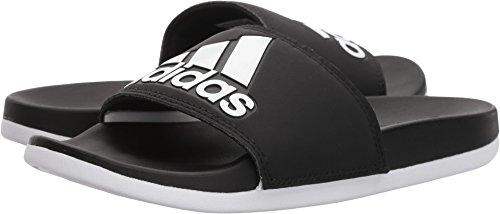 adidas Women's Adilette Comfort Slide, Black/White, 9