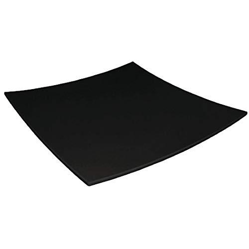 Kristallon DP142 Assiette carrée en mélamine Noir 300 mm