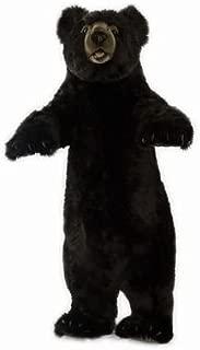 HANSA Standing Upright Black Bear Stuffed Animal