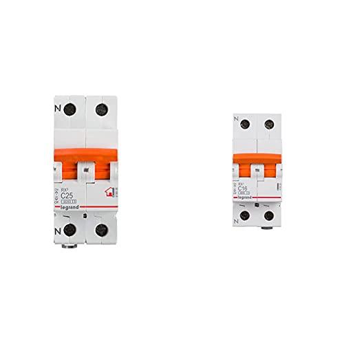 Legrand 419928E Interruptor Magneto Térmico, Blanco + 419926E Interruptor Automático Magnetotermico