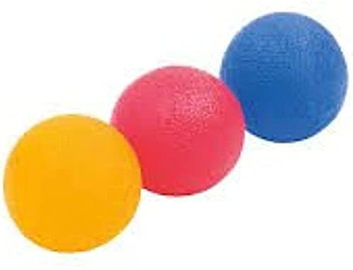 fine-toned® 3 x Gel Hand Therapy Exercise Balls - Firm/Medium/Soft- plus...