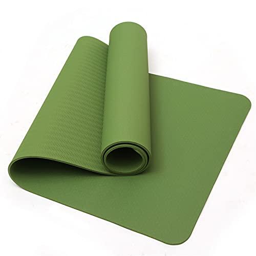TYUTYU Maten de Yoga TPE Nicht-Slip Für Fitness Geschmacklos Pilates Matte Gym Übung Sport Matten Pads (Color : Green)