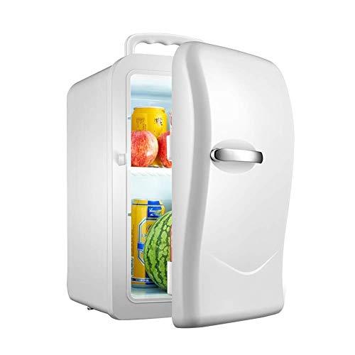 MQJ Refrigerador de Automóviles Compacto, 20L Mini Refrigerador Single Core Refrigeration Car Cooler 12V / 220V, Congelador Portátil, con Diseño de Manija, Adecuado para Viajes, Camping