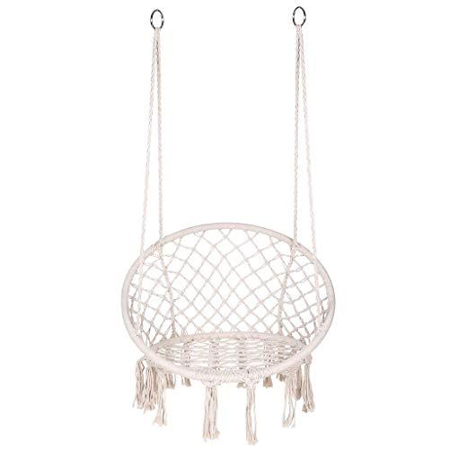 zxb-shop schaukel Hängematte Swing Chair mit Quaste Spitze Hängende Stuhl Faule Cradle Stuhl Wohnzimmer Balkon Komfortable Hängematte Swing Chair Schaukelsitz (Color : A)