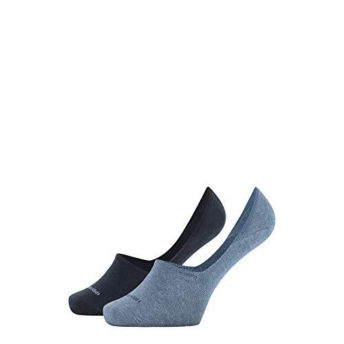 Calvin Klein Socks Mens CK WOMEN LINER 2P SPARKLE STRIPE ALICE Socks, Denim Combo, 39/42