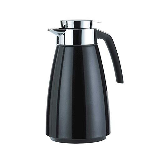 JYDQM Tazas de Agua Tazas de Aislamiento Pot 304 Acero Inoxidable Vacuum Portátil Portátil Termos 1500Ml Capacidad Grande Bebida Termos Frascos,Negro