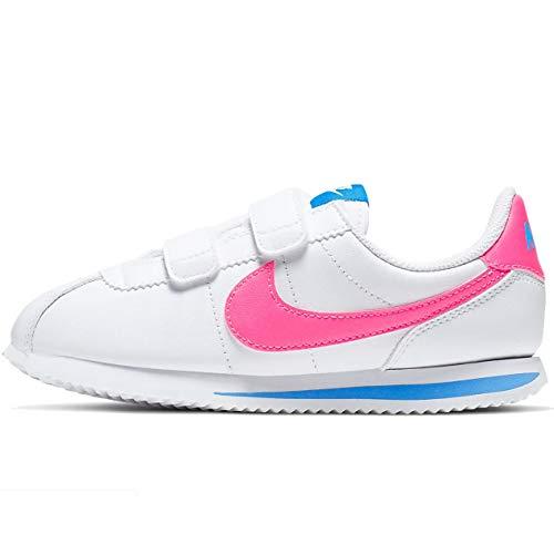Nike Cortez Basic SL Bpv, Zapatillas de Running Unisex Adulto, Blanco/Rosa, 34 EU