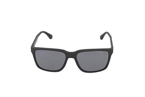 Armani sunglasses for men and women Emporio Armani EA4047 506381 Black Rubber/Grey Polarized Sunglasses