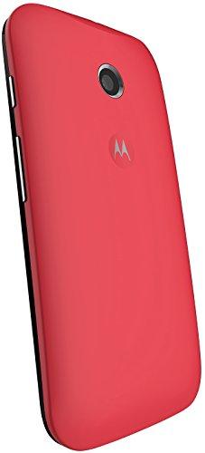 Motorola Clip-On Shell Hülle Schale Case Cover für Moto E Smartphone - Rot