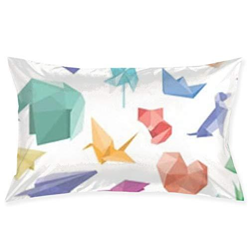 Vector - Funda de almohada para sofá o coche, diseño de aviones origami de 50,8 x 76,2 cm