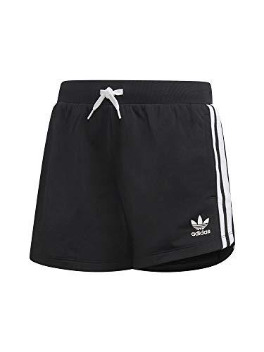 adidas 3Stripes Pantalón Corto, Niñas, Negro/Blanco, 164 (13/14 años)