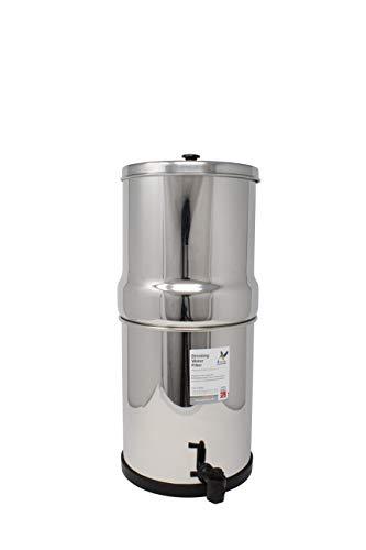 British Berkefeld Edelstahl Trinkwasser Gravity Filter Gehäuse mit 2x British Berkefeld Keramik ATC Super Sterasyl Wasserfilter Kartusche Kerzen ¦ 17,8cm ¦ w9361151