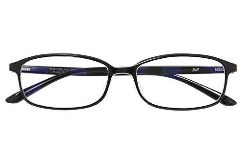 スクエア型 PCメガネ Zoff PC REGULAR TYPE(ブルーライトカット率約35%) ゾフ PC 透明レンズ パソコン用メガネ PCめがね PC眼鏡 メンズ レディース おしゃれ【ZA201P02_14E1 ZA201P02-14E1 ブラック】【54□16-143】